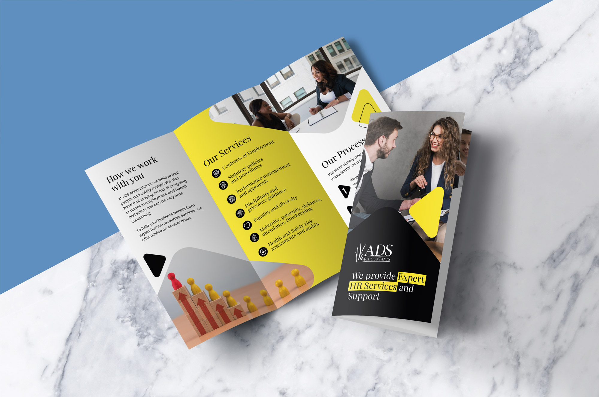 ads accountants HR services leaflet - bull media