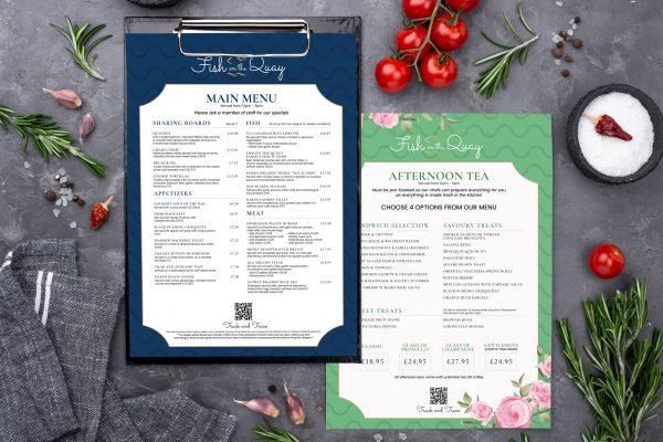 fish on the quay menu design - bull media