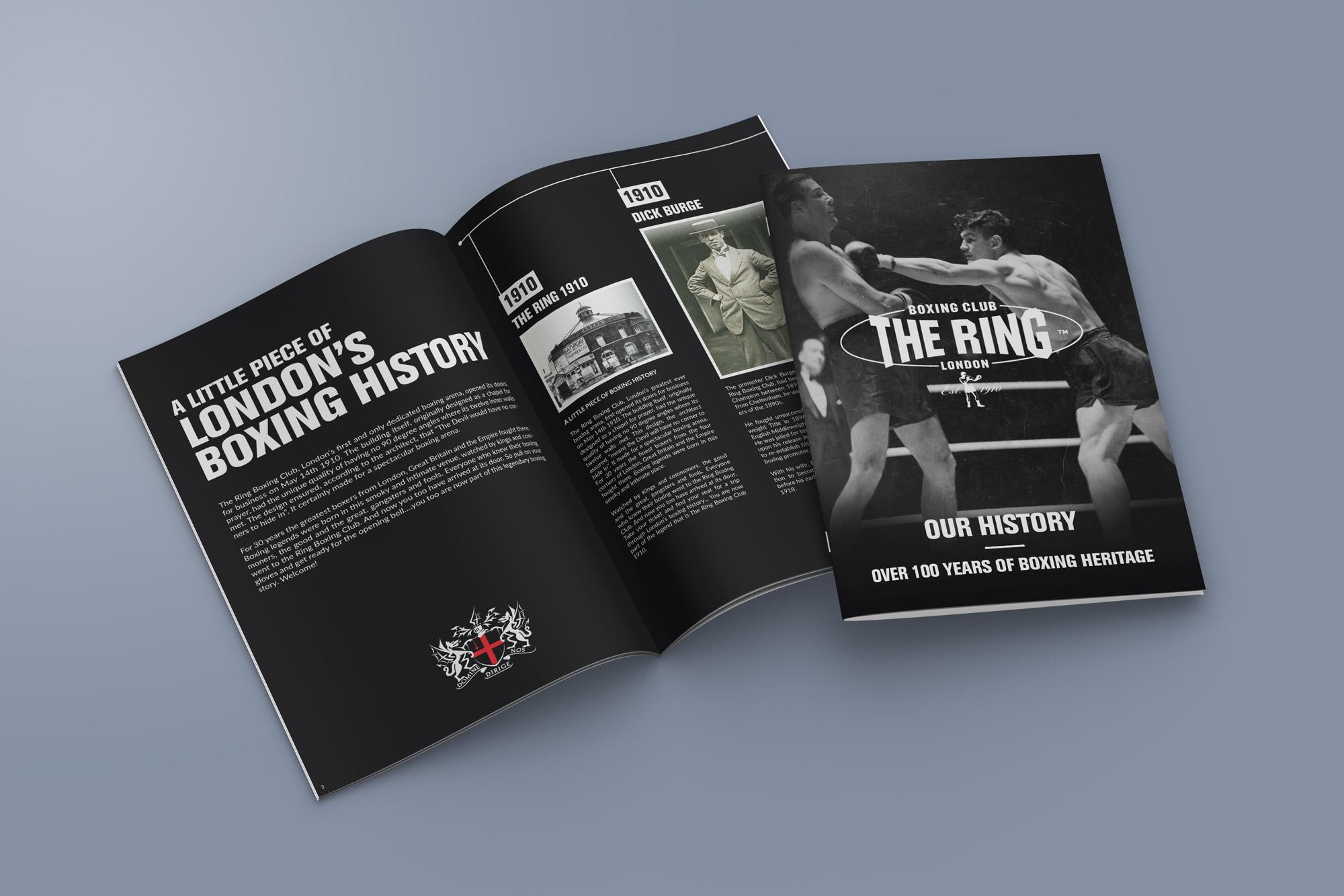 boxing club the ring magazine design - bull media